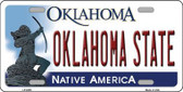 Oklahoma State Novelty Metal License Plate LP-6255