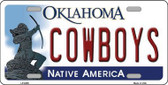 Cowboys Oklahoma Novelty Metal License Plate LP-6259