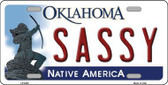Sassy Oklahoma Novelty Metal License Plate LP-6263