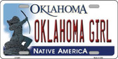 Oklahoma Girl Novelty Metal License Plate LP-6267