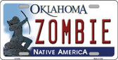 Zombie Oklahoma Novelty Metal License Plate LP-6752