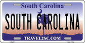 South Carolina Novelty Metal License Plate LP-6271
