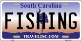Fishing South Carolina Novelty Metal License Plate LP-6288