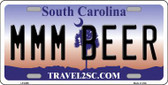 MMM Beer South Carolina Novelty Metal License Plate LP-6296
