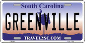 Greenville South Carolina Novelty Metal License Plate LP-6300