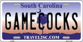 Gamecocks South Carolina Novelty Metal License Plate LP-6303