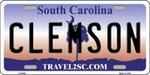 Clemson South Carolina Novelty Metal License Plate LP-6305