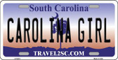Carolina Girl South Carolina Novelty Metal License Plate LP-6313