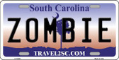 Zombie South Carolina Novelty Metal License Plate LP-6745