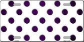Purple White Dots Oil Rubbed Metal Novelty License Plate