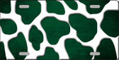 Green White Giraffe Oil Rubbed Metal Novelty License Plate
