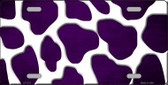 Purple White Giraffe Oil Rubbed Metal Novelty License Plate