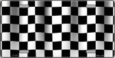 Waving Checkered Flag Metal Novelty License Plate