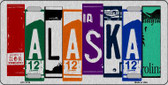 Alaska License Plate Art Brushed Aluminum Metal Novelty License Plate