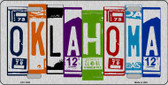 Oklahoma License Plate Art Brushed Aluminum Metal Novelty License Plate