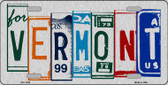 Vermont License Plate Art Brushed Aluminum Metal Novelty License Plate