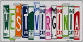 West Virginia License Plate Art Brushed Aluminum Metal Novelty License Plate