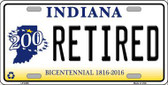 Retired Indiana Novelty Metal License Plate