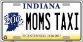 Moms Taxi Indiana Novelty Metal License Plate