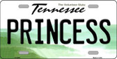 Princess Tennessee Novelty Metal License Plate