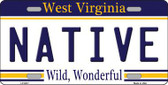 Native West Virginia Novelty Metal License Plate