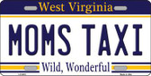 Moms Taxi West Virginia Novelty Metal License Plate
