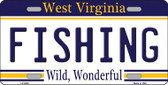 Fishing West Virginia Novelty Metal License Plate