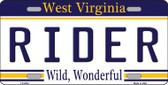 Biker West Virginia Novelty Metal License Plate