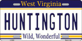 Huntington West Virginia Novelty Metal License Plate
