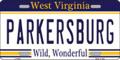 Parkersburg West Virginia Novelty Metal License Plate