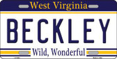 Beckley West Virginia Novelty Metal License Plate