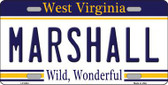 Marshall West Virginia Novelty Metal License Plate