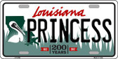 Princess Louisiana Novelty Metal License Plate