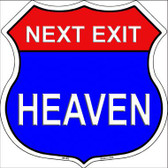 Next Exit Heaven Highway Shield Metal Sign