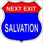 Next Exit Salvation Highway Shield Metal Sign