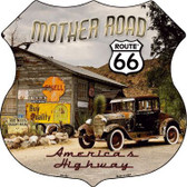 Route 66 Mother Road Highway Shield Metal Sign