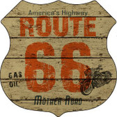 Route 66 Vintage Highway Shield Metal Sign