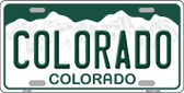 Colorado Novelty State Background Metal License Plate