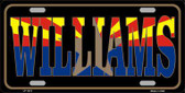 Williams Arizona State Flag Metal Novelty License Plate