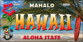 Hawaii State Background Novelty Metal License Plate