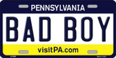 Bad Boy Pennsylvania State Background Novelty Metal License Plate