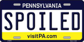 Spoiled Pennsylvania State Background Novelty Metal License Plate