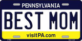 Best Mom Pennsylvania State Background Novelty Metal License Plate