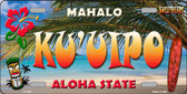 Ku' uipo Hawaii State Background Novelty Metal License Plate