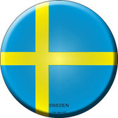 Sweden Country Novelty Metal Circular Sign