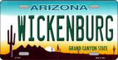 Wickenburg Arizona Metal Novelty License Plate