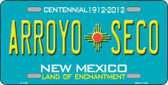 Arroyo Seco New Mexico Metal License Plate