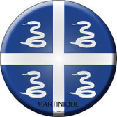 Martinique Country Novelty Metal Circular Sign