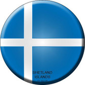 Shetland Islands Country Novelty Metal Circular Sign