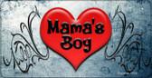 Mamas Boy Novelty Metal Bicycle License Plate